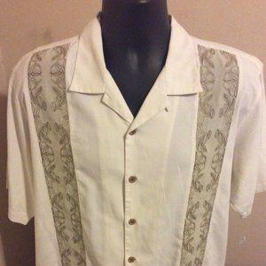 Tommy Bahama Silk Cotton Button Shirt sz Medium